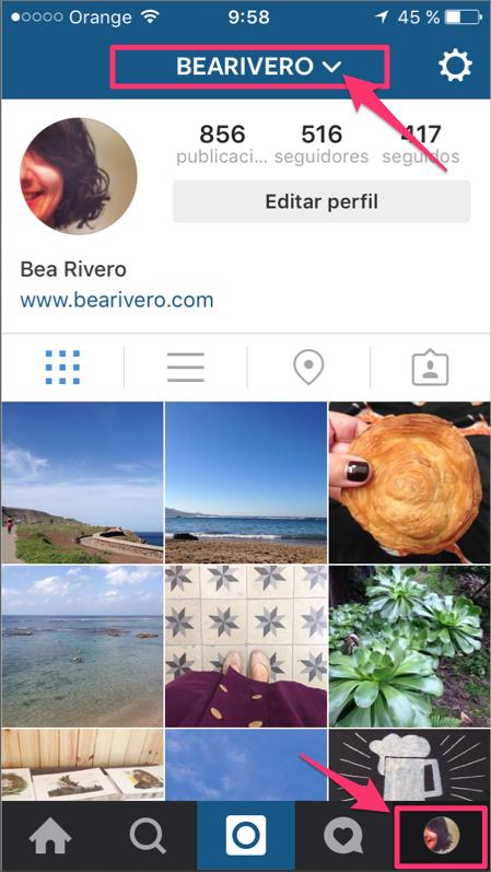 instagram varias cuentas