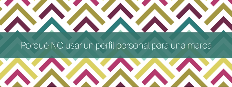 perfil personal perfil empresa en facebook