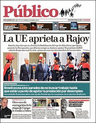 Última portada Diario Público